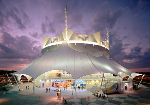 "Cirque du Soleil at Downtown Disney West Side presents its ""La Nouba"" show weekly."