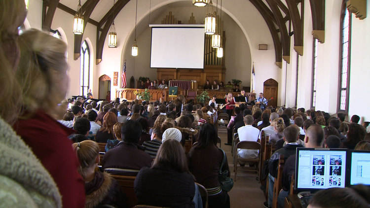 There was standing room only at the Congregational Church in Windsor Locks to remember Henry Dang.