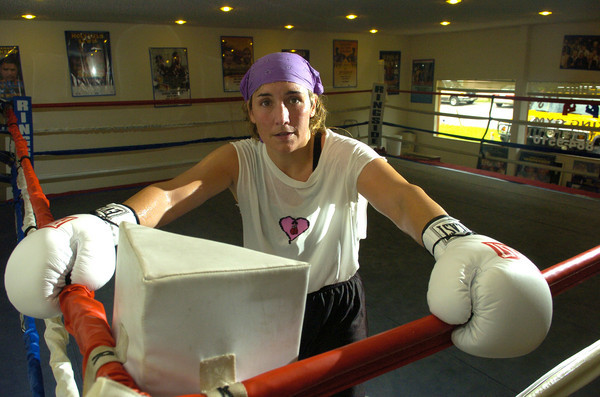 Boxer Christy Martin in Apopka, Florida on Thursday, July 19, 2005.