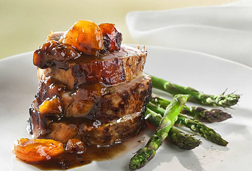For a quick weekday meal -- or a terrific entree for dinner guests -- this apricot pork tenderloin dish delivers.