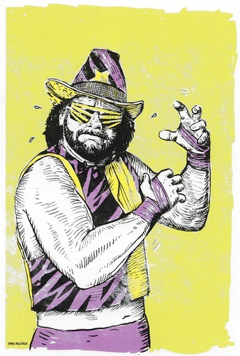 Artist Emma Maatman will be among the artists displaying work at Artscape in a stretch offering tribute to the 1980s. This is an illustration of wrestler Randy Savage.