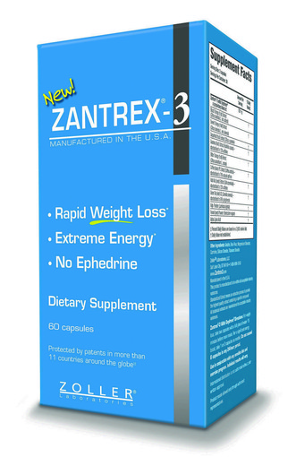 "Zantrex-3, the popular weight-loss supplement from Zoller Laboratories, lists ""up to"" 160 milligrams of ""caffeine and caffeine-like stimulants"" in each capsule."