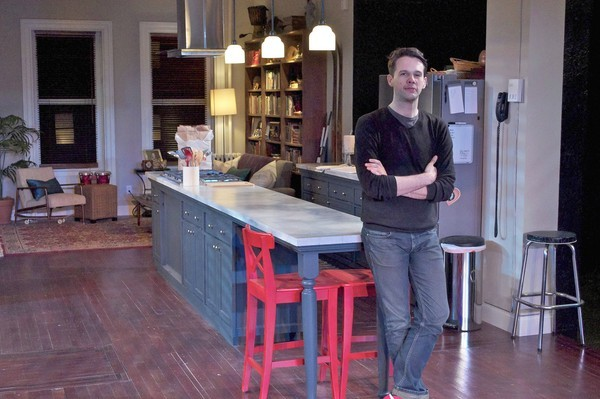 "Baltimore-born set designer Tim Mackabee created the set for Everyman Theatre's production of the tense marital drama ""Fifty Words."""