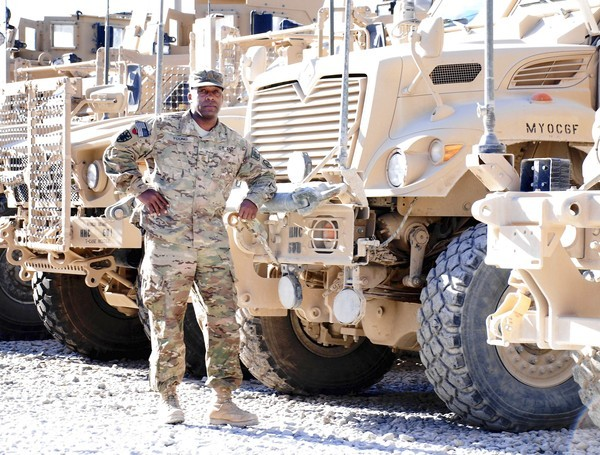 Maj. Young with the Maryland National Guards 1297th CSSB in Kandahar, Afghanistan.