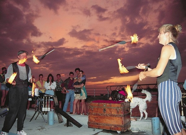 The Sunset Celebration at Mallory Square in Key West is a prime photo spot -- for the view and the people-watching.