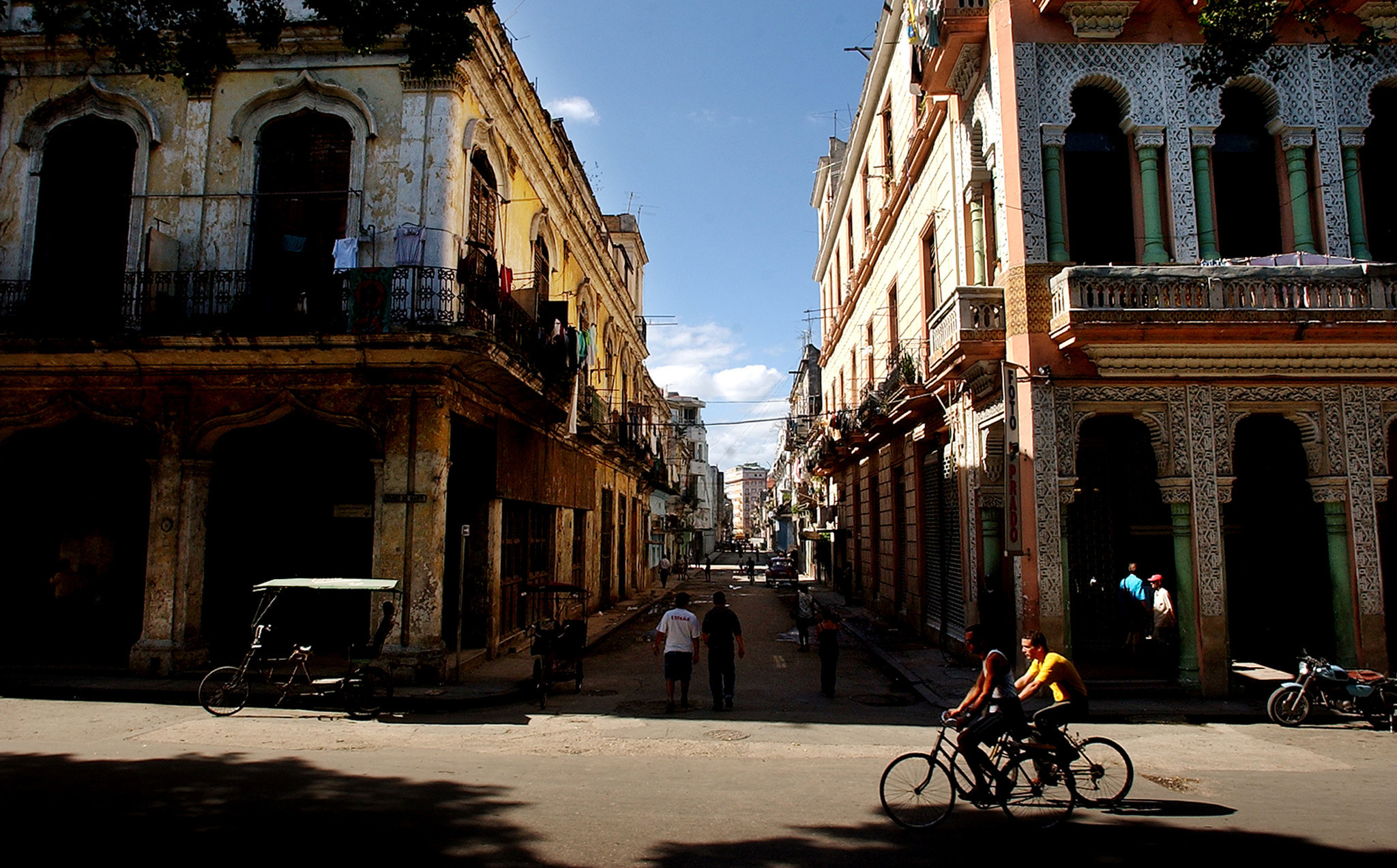In this December 15, 2002 file photograph, a street scene in Havana, Cuba, is captured. Liberalized rules make it easier, but just don't call it a vacation.