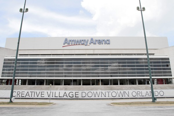 The old Amyway Arena will be demolished at 7:30 a.m. Sunday.