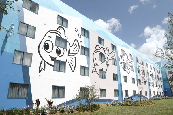 Disney's Art of Animation hotel, its newest, is still under construction. This is a look at the Finding Nemo section, which is near completion.  (George Skene/Orlando Sentinel)
