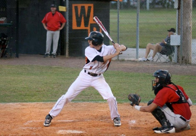 Winter Park centerfielder James Baker, at bat, worked his way to the varsity squad and is on his way to play for Butler University.