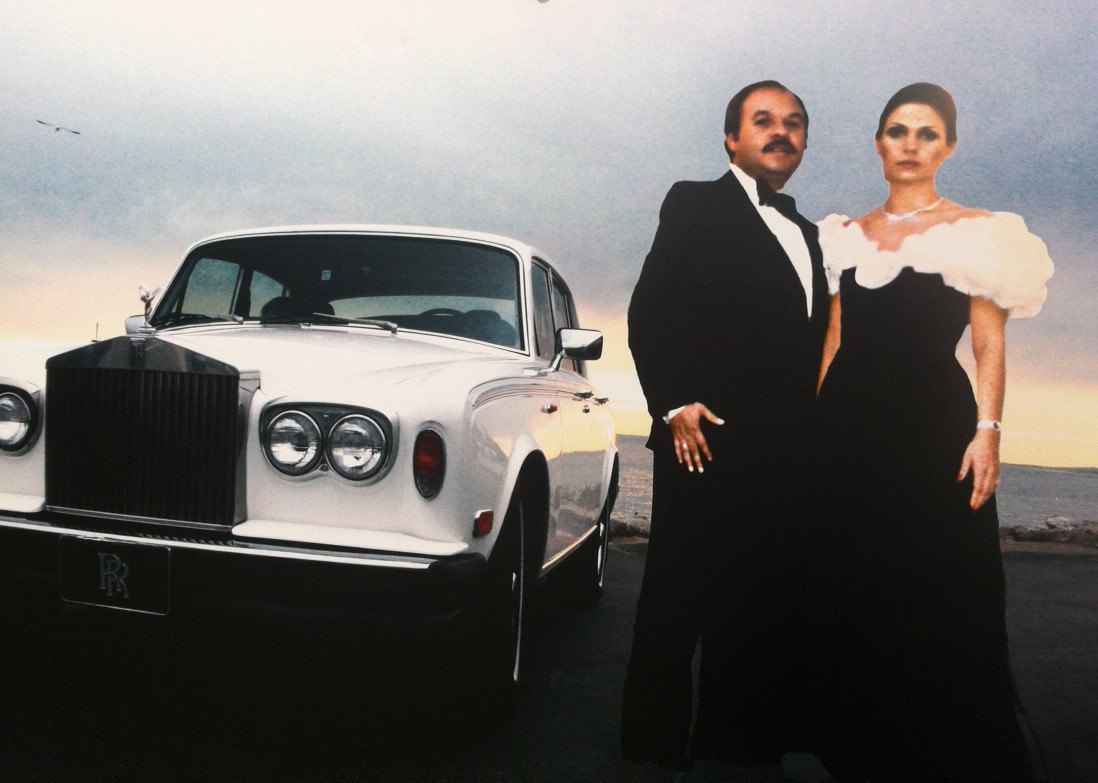 This undated family photo from the late 1970s shows Rose Marks and her late husband, Nicholas, with the 1977 Rolls Royce federal authorities seized last year. Rose Marks, now 60, of Fort Lauderdale, and several of her family members are accused of defrauding $40 million from clients of their fortune-telling businesses in South Florida and New York. Handout photo provided by: Paula McMahon, Sun Sentinel
