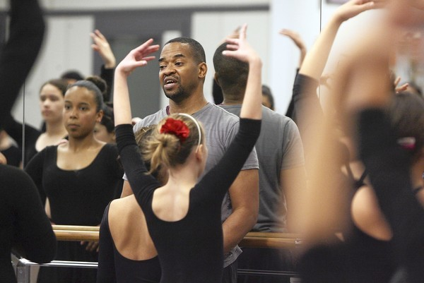 Tad Williams teaches a dance class at the Osceola County School for the Arts, on Thursday, February 16, 2012. (Ricardo Ramirez Buxeda / Orlando Sentinel