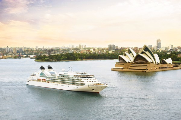 The Seabourn Odyssey seen in Sydney Harbor.