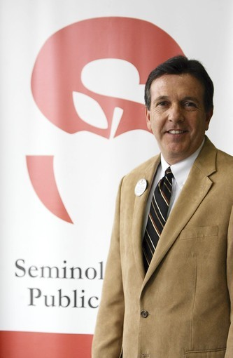 Walt Griffin, new superintendent of Seminole County Schools, on Friday.