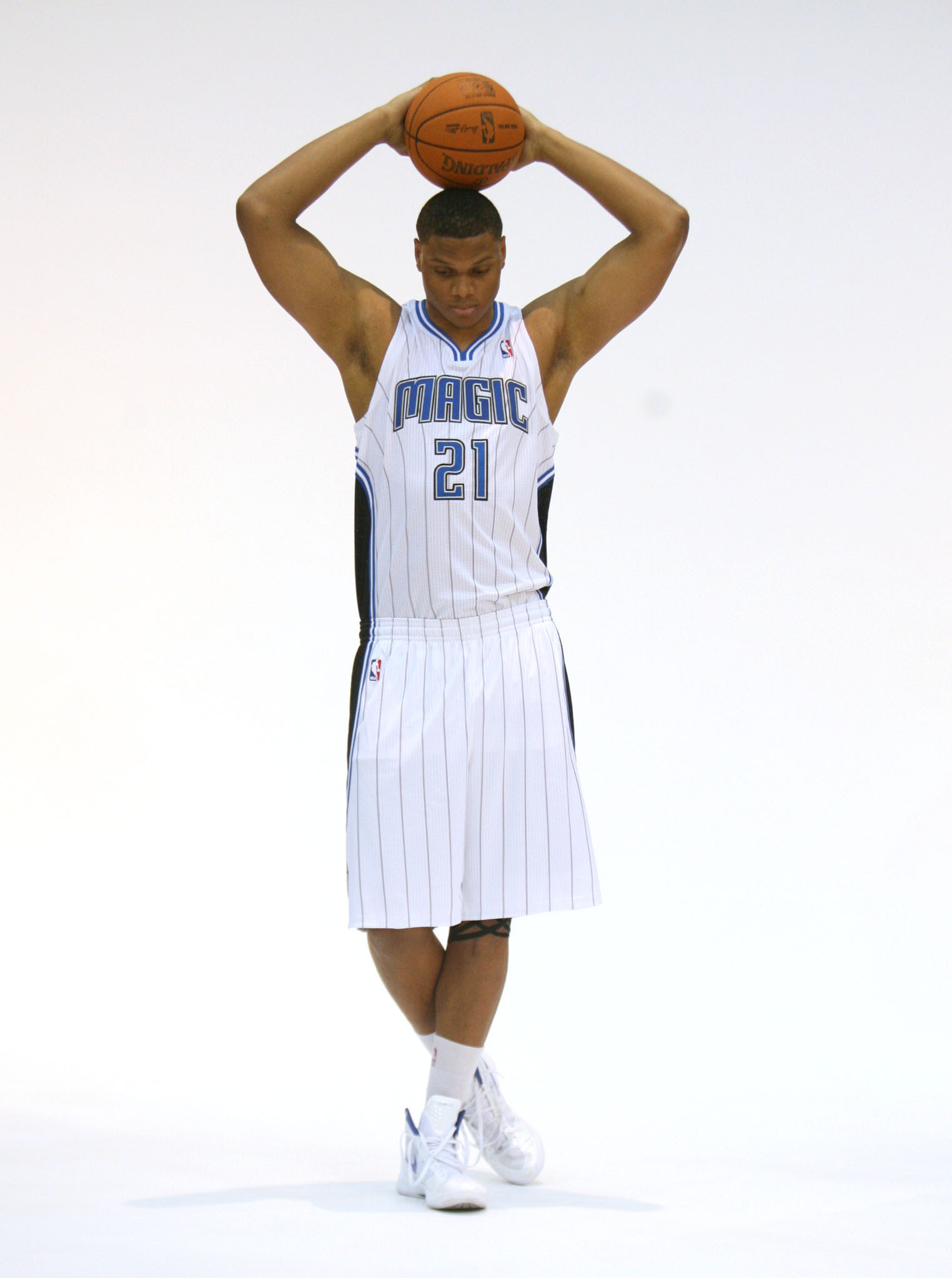 Orlando Magic center Daniel Orton at Orlando Magic Media Day at Amway Center in Orlando on Monday, Dec. 12, 2011.