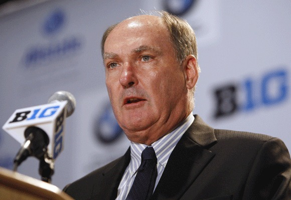 Big Ten Commissioner Jim Delany has encountered resistance to a plan for schools to host semifinal BCS games.