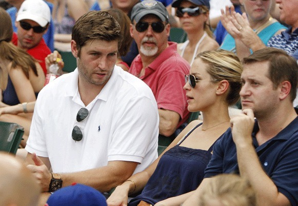 Bears quarterback Jay Cutler and fiancee Kristin Cavallari take in a Cubs game last summer at Wrigley Field.
