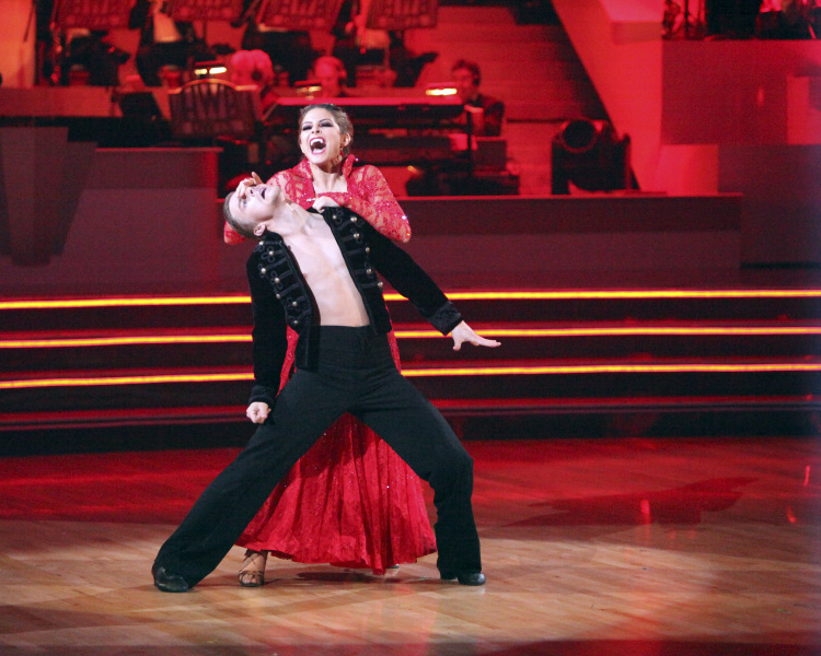 "A blood-sucking scene from last week's ""Dancing With the Stars."""
