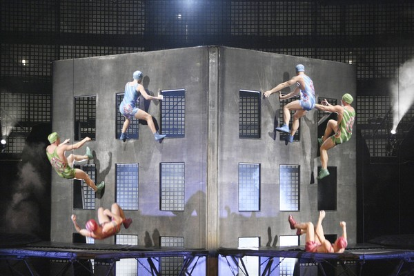 "Cirque du Soleil at Downtown Disney West Side presents its ""La Nouba"" show weekly."