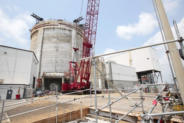 Work to correct delamination problems is under way at the Crystal River nuclear plant, seen in a June 2011 file photo.