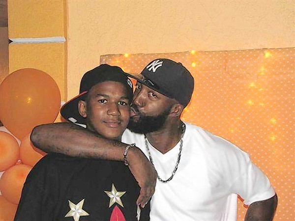 Trayvon Martin with his father, Tracy Martin.
