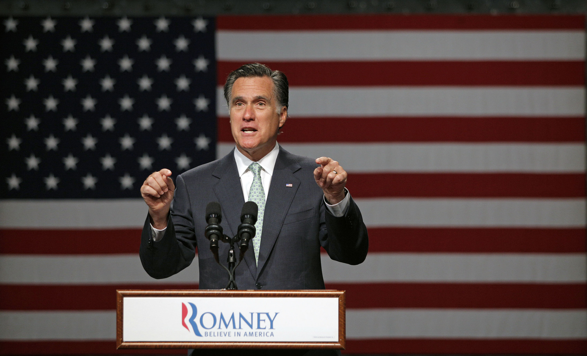 Mitt Romney's victory in the Indiana primary continues his march toward the GOP presidential nomination. He is expected to secure the 1,144 delegates needed to cinch the race by the end of the month. Above, Romney speaks at a campaign event in Lansing, Mich.