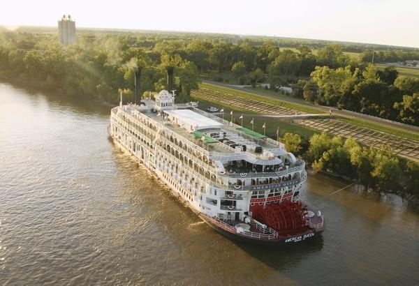 he American Queen riverboat.