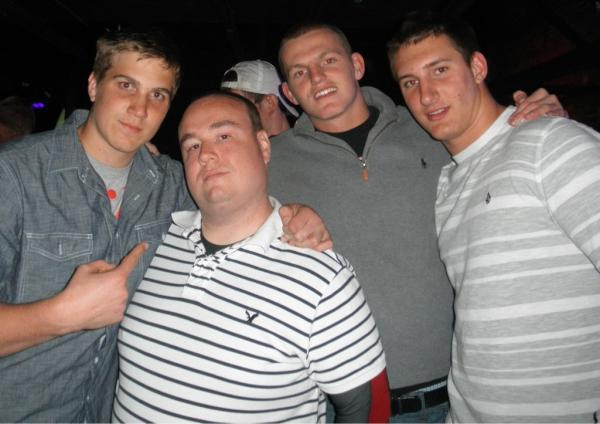 Eric Waugh, a listed sex offender (second from left) in the state of Kentucky, was arrested Tuesday (May 8) for violating probation after posing with Ohio State football recruits Mike Heuerman of Naples, Alex Anzalone of Pennsylvania and Joey Bosa of Fort Lauderdale St. Thomas Aquinas.