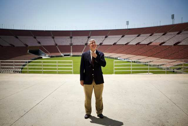 John Sandbrook, interim general manager of the Los Angeles Memorial Coliseum.