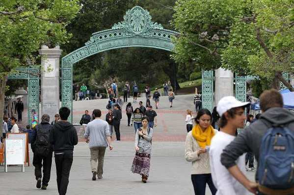 Students walk through Sproul Plaza on the UC Berkeley campus. To deal with steep funding cuts by the state, administrators recently wrote a proposal to give each UC school more autonomy.