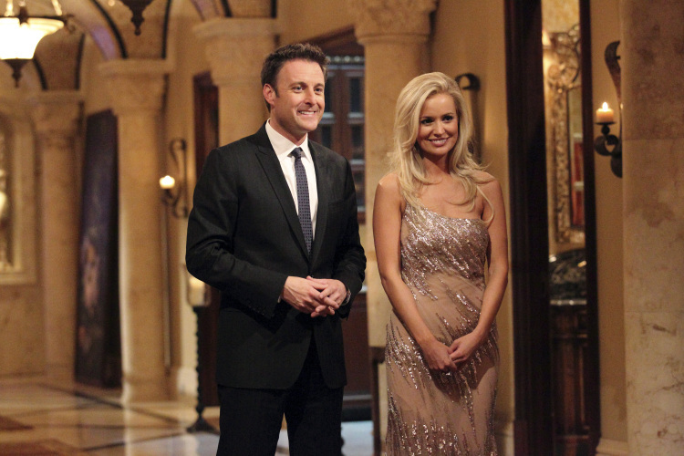 "Chris Harrison and Emily Maynard on the season premiere of ""The Bachelorette."""