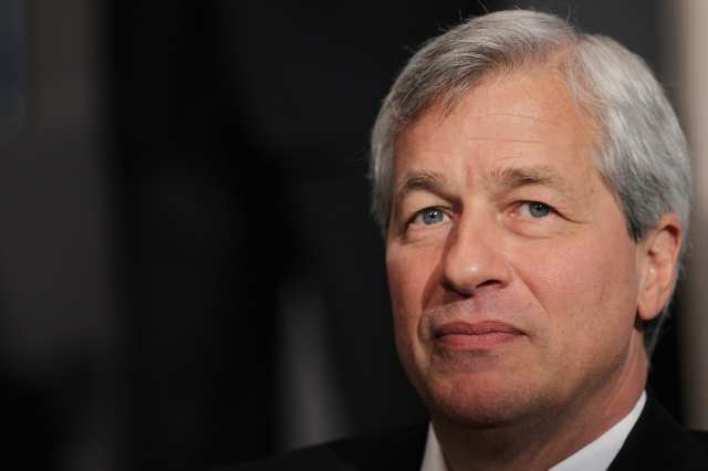 JPMorgan Chase & Co. shareholders at the company's annual meeting are debating whether chairman and CEO Jamie Dimon should continue to hold both positions.