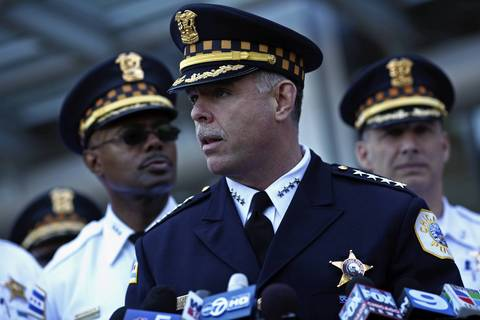 Chicago Police Superintendent Garry McCarthy addresses the media regarding NATO-related demonstration activity that has already taken place in the city.