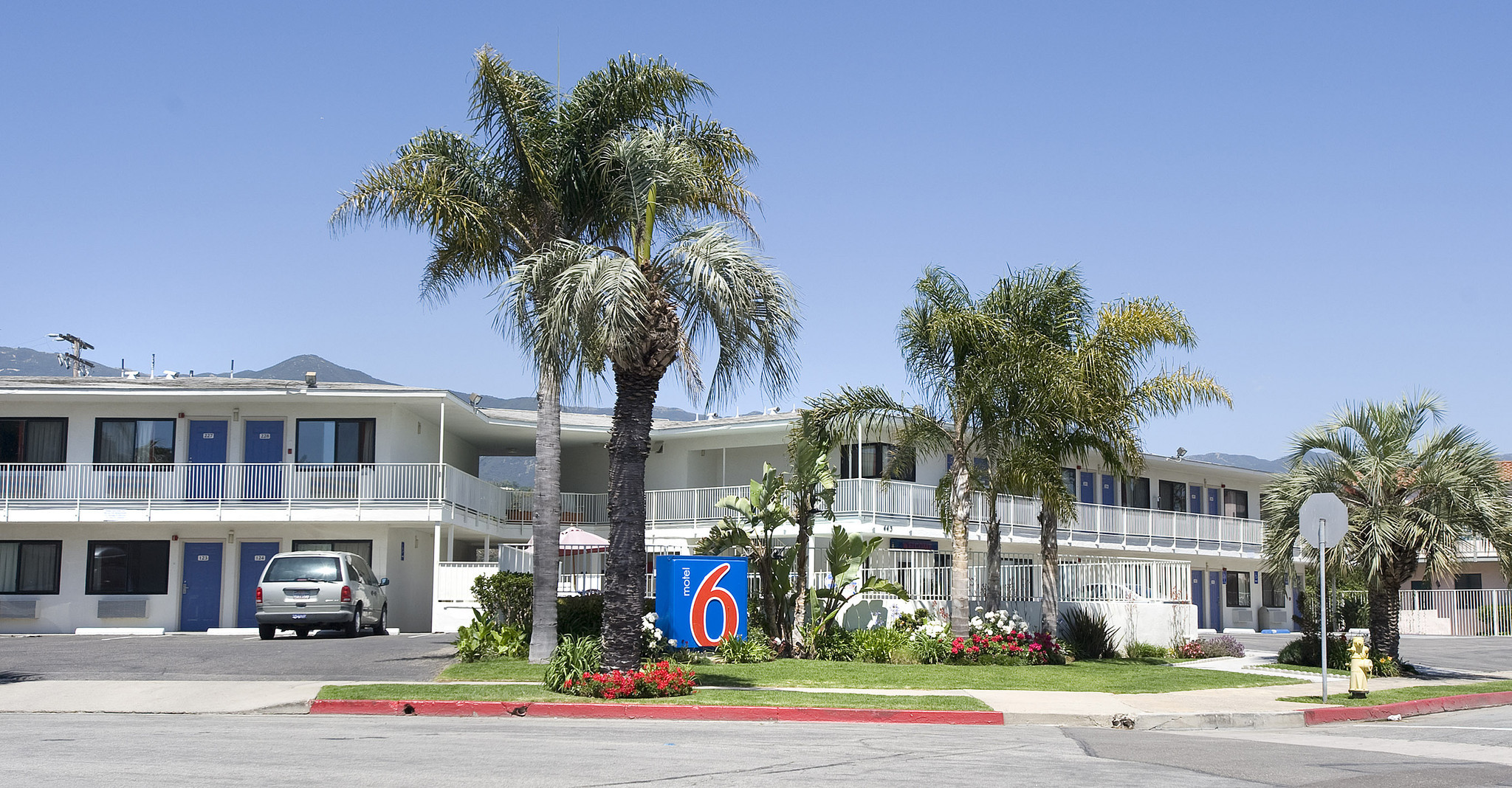 This is the very first Motel Six which opened its doors in 1962 one block from the beach in Santa Barbara. The national chain has been a classic budget brand since its inception. At that time it offered rooms for $6 a night.