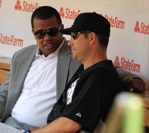 White Sox GM Ken Williams and manager Robin Ventura.