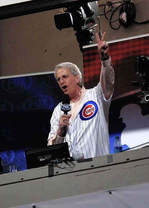 U.S. Ambassador Ivo Daalder sings in the 7th inning.