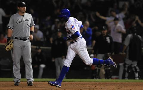 Alfonso Soriano breaks the scoreless streak for the Cubs with a 2-run HR in the 9th.