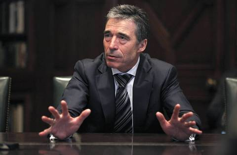 NATO Secretary General Anders Fogh Rasmussen meets with the Chicago Tribune's Editorial Board.