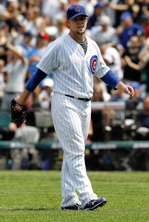 Cubs starting pitcher Paul Maholm after giving up a solo home run to Gordon Beckham in the fourth inning.