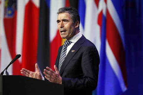 NATO Secretary-General Anders Fogh Rasmussen has a wrap-up press conference at the conclusion of the 2012 NATO Summit at McCormick Place in Chicago.