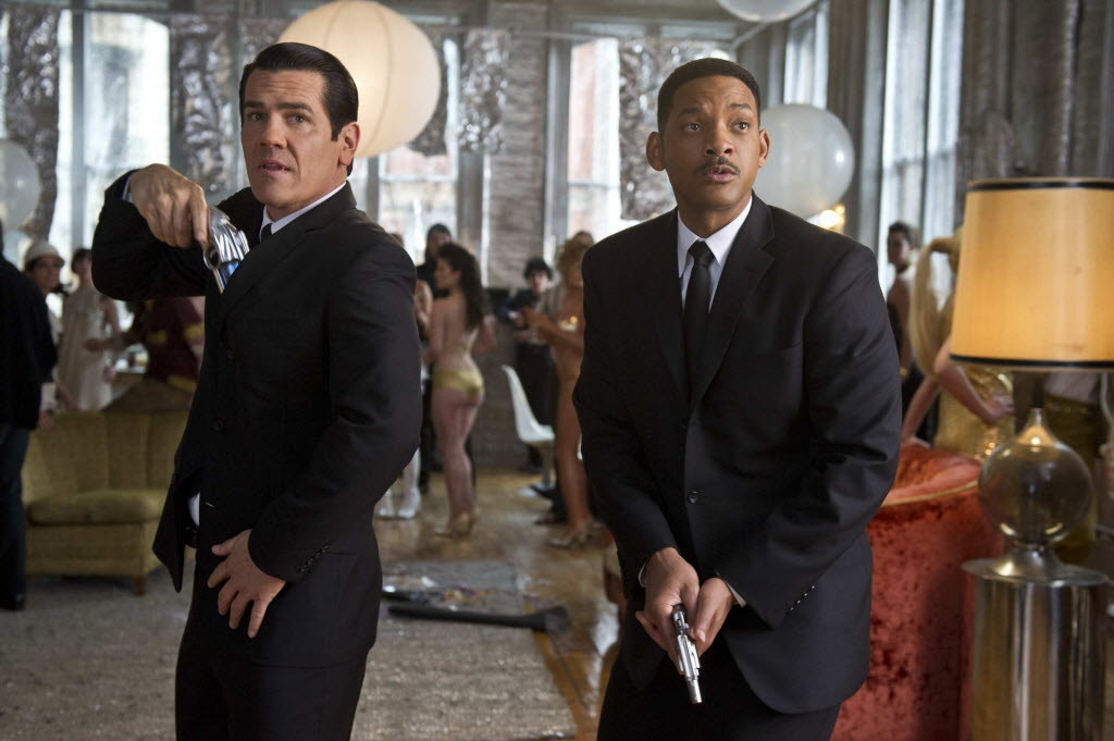 "Josh Brolin and Will Smith star in ""Men in Black 3."""