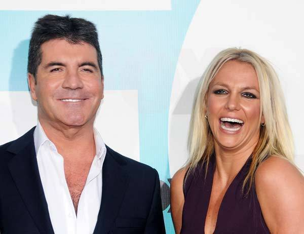 Simon Cowell and singer Britney Spears attend the Fox 2012 Programming Presentation Post-Show Party at Wollman Rink - Central Park.