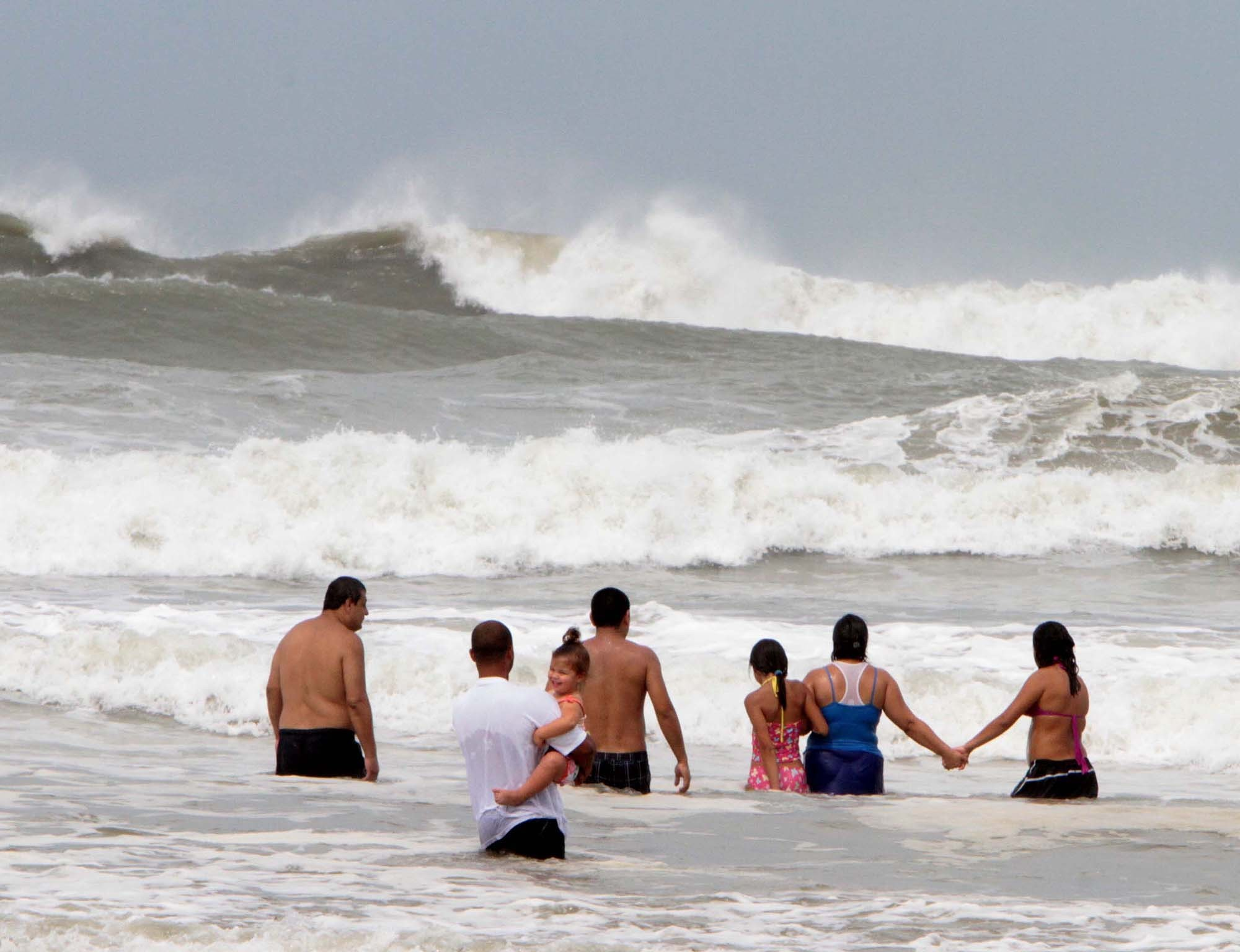 Surf is really up at Daytona Beach on Sunday, May 28, 2012, for Memorial Day weekend revelers.