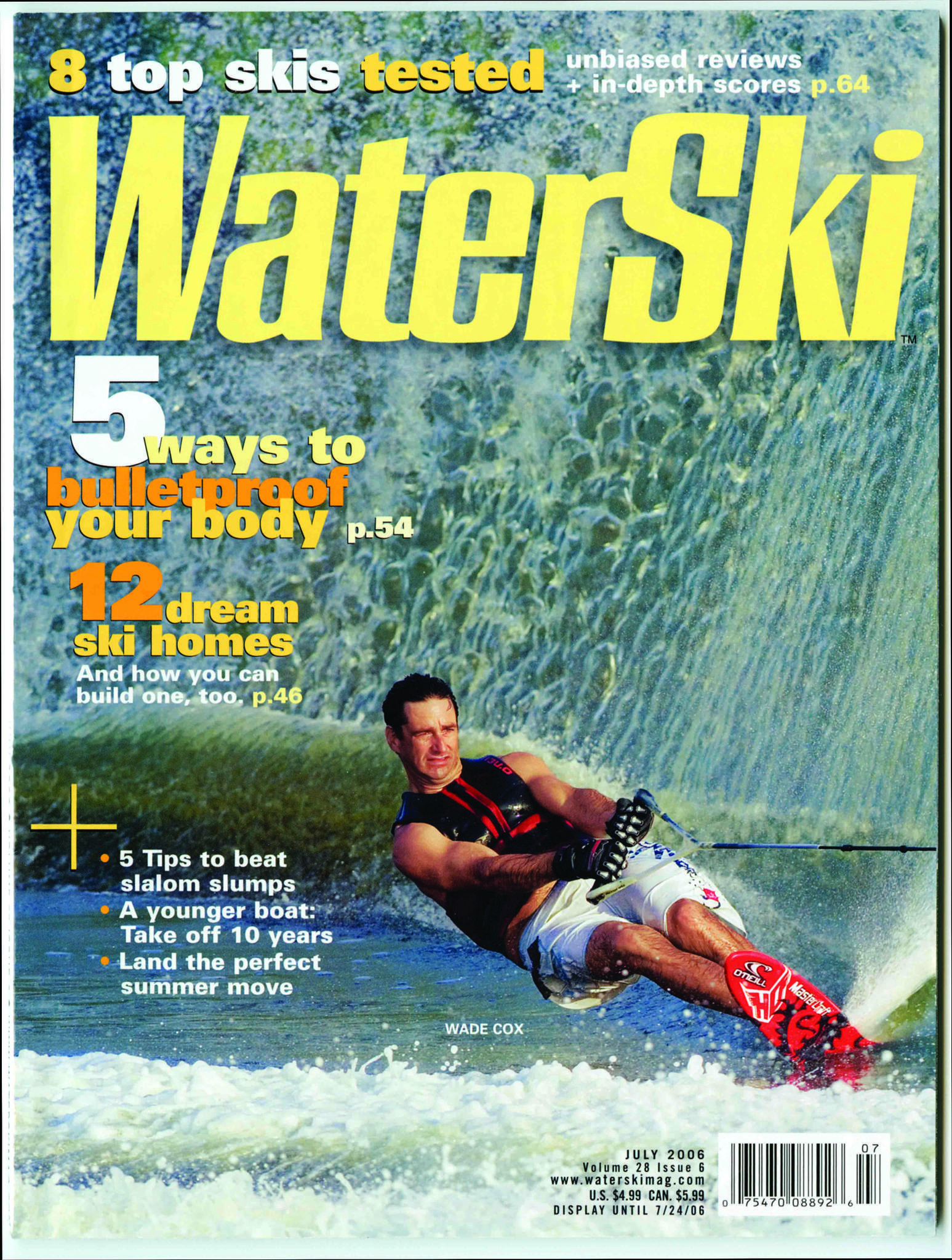Magazine featuring Wade Cox on the cover.