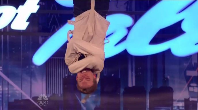 "Baltimore magician and escape artist Spencer Horsman on last night's episode of ""America's Got Talent."""