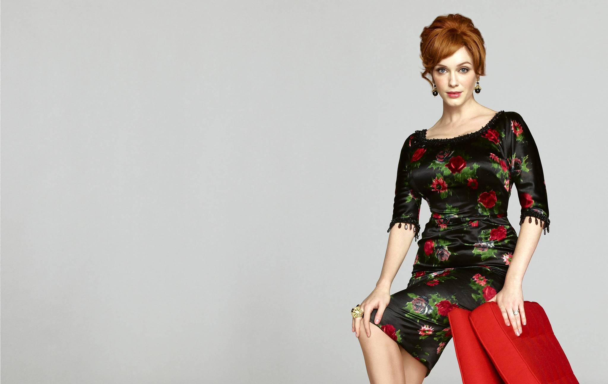 "Joan (Christina Hendricks) is now a partner in ""Mad Men."""