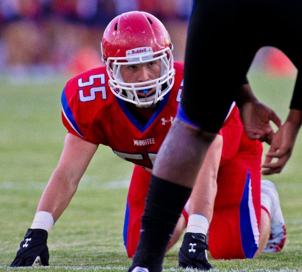 Bradenton Manatee defensive end Blake Keller has committed to the UCF recruiting class of 2013. Keller will likely play linebacker at the next level.