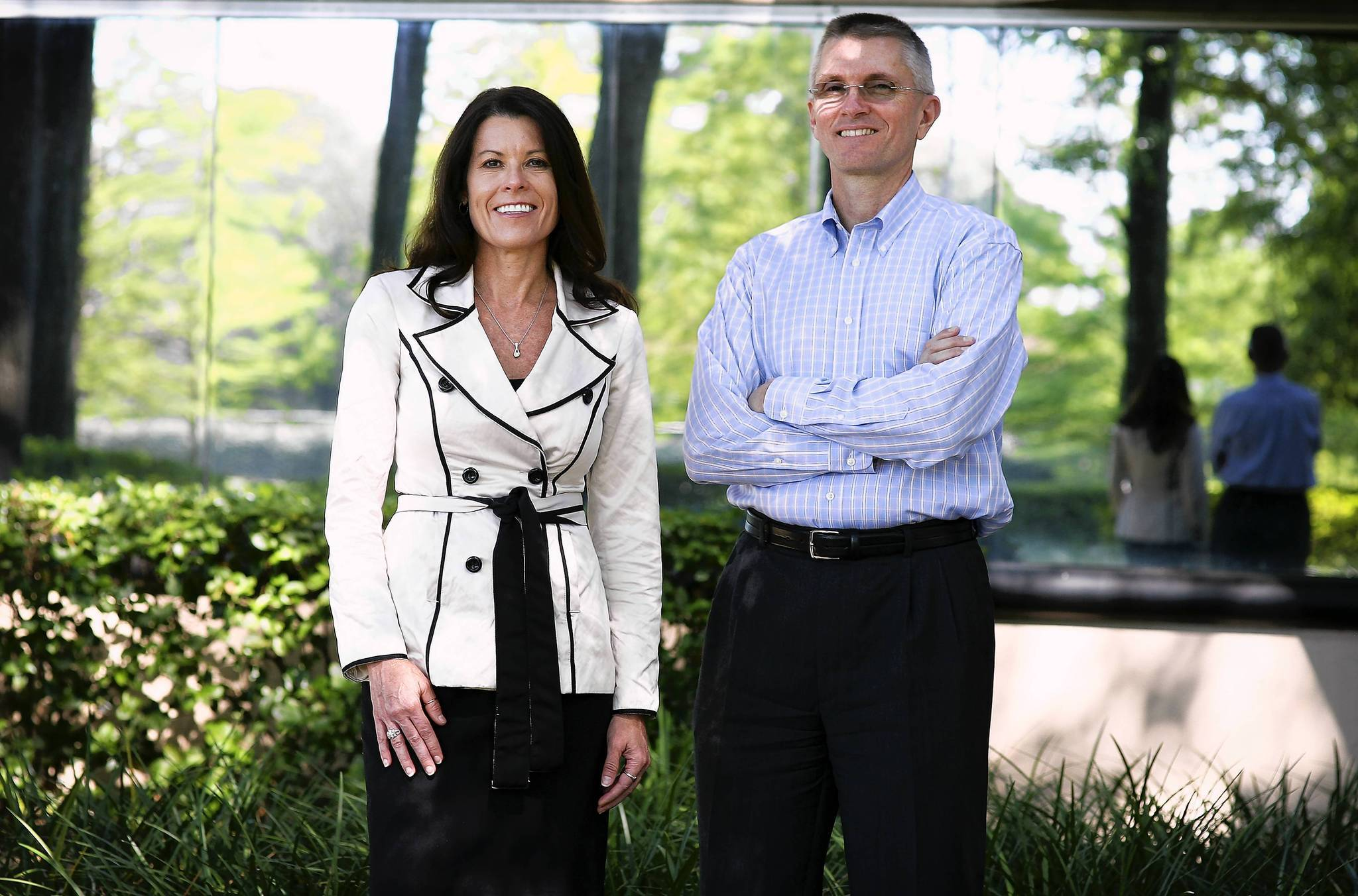 Shari Dingle Sandifer, CEO of Avant Healthcare, and Spencer Lloyd, the companys CFO, at their Casselberry office.