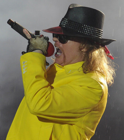 File picture shows singer Axl Rose performing with his band Guns N'Roses during the last day of the Rock in Rio music festival at the City of Rock in Rio de Janiero on October 3, 2011.