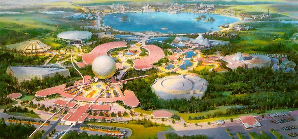 A 1981 rendering of Epcot shows off the approximate plans for the Disney World theme park that would open a year later.