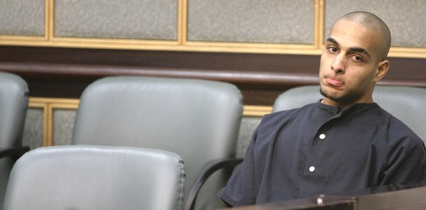 Isaiah Cain sits during his sentencing hearing in Orange County Circuit Court on Thursday, June 7, 2012.